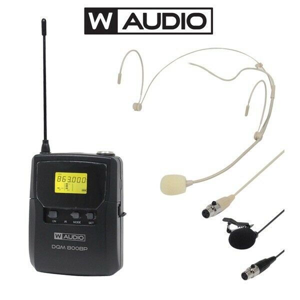 Royaume-UniW Audio Dqm 800BP Uhf sans Fil Casque Microphone Add-On Loco- Kit