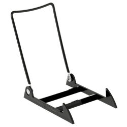 2 4PLBB Adjustable Wire & Acrylic Easels - 4'' x 6'' with 4.5'' ledge, Black
