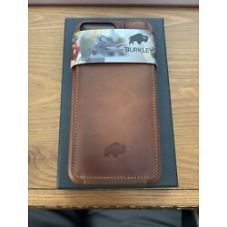Burkley Genuine Leather Snap On Case With Attached Wallet For iPhone Plus/Max