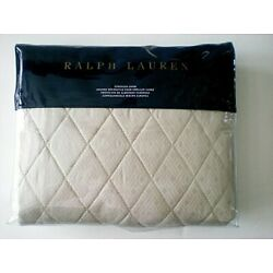 Ralph Lauren Bedford Quilted Euro Sham Champagne 100% Cotton New In Package