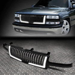 Kyпить [LED DRL STRIPS]FOR 99-06 SILVERADO TAHOE SUBURBAN VERTICAL FRONT HOOD GRILLE на еВаy.соm
