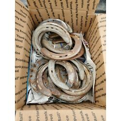 Kyпить 20 Used Steel Horseshoes Straight from Montana Patina Included Fast Ship на еВаy.соm