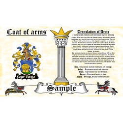 Osommers-Zommer COAT OF ARMS HERALDRY BLAZONRY PRINT