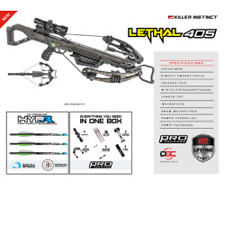 Kyпить New 2020 Killer Instinct Lethal 405 4x32 Scope Crossbow Package  на еВаy.соm