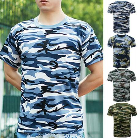 img-New Mens Boys Military Camouflage Camo T Shirt Summer Top Tee Army Combat Beach
