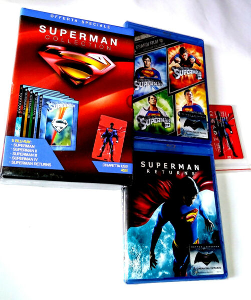 Perugia,SUPERMAN collection cofanetto 5 blu ray +  USB