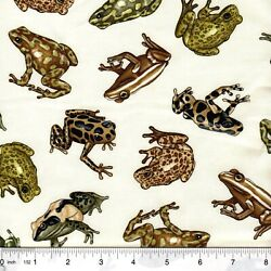 Tropic Rainforest Amazon Frogs 100% Cotton Fabric by the 1/4 yard