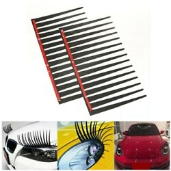 Kyпить 2 Pcs Black Car 3D eyelashes Decoration Sticker Decal For Auto Car Eye Lashes US на еВаy.соm