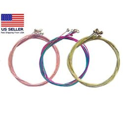 Kyпить 3 Sets of 6pcs Colorful Acoustic Guitar Strings 1st-6th String Steel Strings US на еВаy.соm