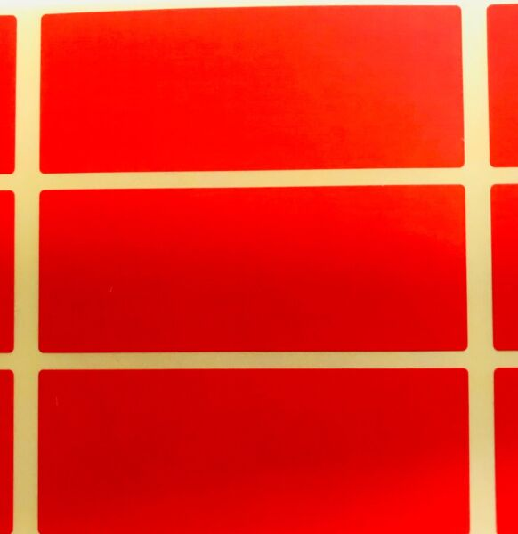 Royaume-UniGrand - Rouge 30 x 78mm Code Couleur Rectangles - Archivage / Boîte Stickers /