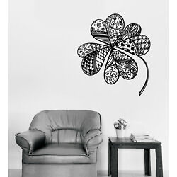Vinyl Wall Decal Sticker Beautiful Clover Leaf with Various Patterns (n1364)