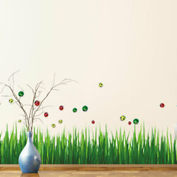 Grass Pattern Wall Stickers Removable Art Decal for Bedroom Living Room