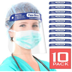 Kyпить 10-PACK FACE SHIELD REUSABLE PROTECTION MASK COVER INDUSTRY SAFETY ANTI SPLASH на еВаy.соm