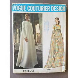 Kyпить VOGUE COUTURIER DESIGN PATTERN 2537 FABIANI ITALY 70's EVENING WEDDING GOWN 14 на еВаy.соm