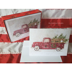 Kyпить NEW Holiday Christmas Cards 20 with Envelopes Box Kathryn White Tree Farm Truck на еВаy.соm