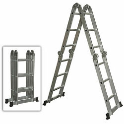 Kyпить Aluminum Ladder Folding Step Ladder Extendable Heavy Duty Multi Purpose на еВаy.соm