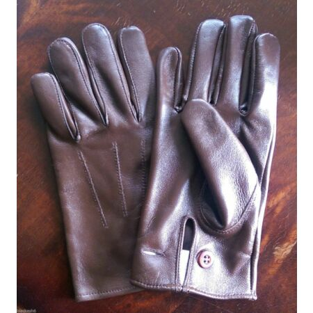 img-British Army Officers Warrant Officer Brown leather Gloves size S,M,L,XL
