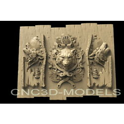 Kyпить 3D STL Models for CNC Router Carving Artcam Aspire Wolf Hunting Pano Animal D190 на еВаy.соm