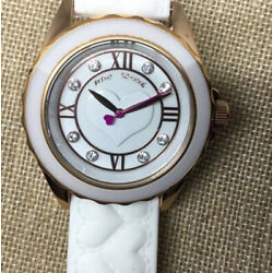 Kyпить Genuine Betsy Johnson Steel White & Pink Heart Design Wrist Watch NEW на еВаy.соm