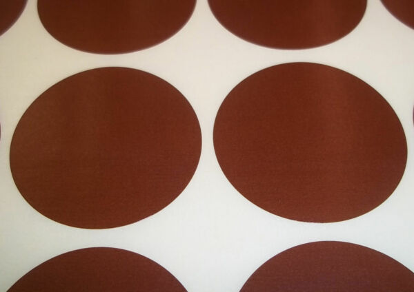 Royaume-Uni200 Brown 13mm 1/2 Inch Colour Code Dots Round  Sticky ID Labels
