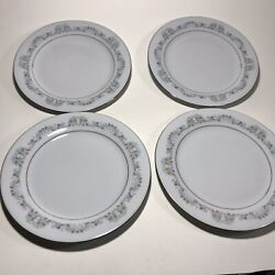 Kyпить Lot of 4 - Crown Ming Fine China Jian Shiang Windsor - Dinner Plates 10 1/2