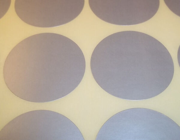 Royaume-Uni100 Silver 38mm 1.5 Inch Colour Code Dots Round  Sticky ID Labels