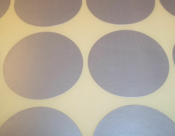 Royaume-Uni1000 Silver 15mm 1/2 Inch Colour Code Dots Round  Sticky ID Labels