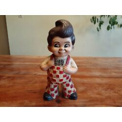 Kyпить JBs Big Boy Cast Iron Piggy Bank Vintage Style Checkered California на еВаy.соm