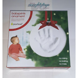 Kyпить Pearhead Babyprints Baby's First Christmas Handprint Footprint Holiday Ornament  на еВаy.соm