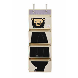 Kyпить 3 Sprouts Hanging Wall Organizer- Storage for Nursery and Changing Tables, Bear на еВаy.соm