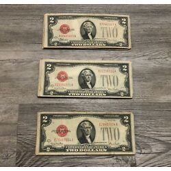 Kyпить ✯Rare 1928 Two Dollar Note Red Seal ✯$2 Bill G-AU✯Old Paper Estate Lot Currency✯ на еВаy.соm