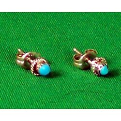Zuni Turquoise and Sterling Earrings by Serena Sanchez - A Steal!