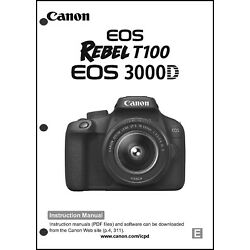 Kyпить Canon REBEL T100 EOS 3000D Digital Camera User Instruction Guide  Manual на еВаy.соm