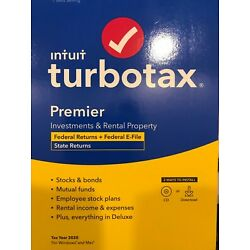 Kyпить TurboTax 2020 PREMIER Federal and State Returns Physical Disk not A download  на еВаy.соm