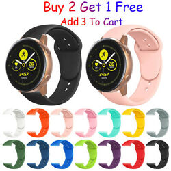 For Samsung Galaxy Watch Active 2 40mm/42mm/44mm Watch Band Silicone Sport Strap