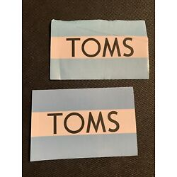 Lot of 2 TOMS Shoes stickers decal - Free Shipping in USA