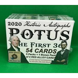 Kyпить 2020 HISTORIC AUTOGRAPHS POTUS THE FIRST 36 SEALED BLASTER BOX на еВаy.соm