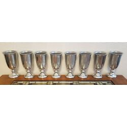 Kyпить Set of 8 Wilton Columbia PA Goblets / Cups 7 inches tall  на еВаy.соm