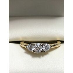 Kyпить 1/2 Ct Sparkly Shane Co. 14k 3 Stone Engagement Ring With $1495 Appraisal на еВаy.соm
