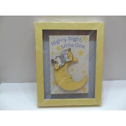 Kyпить Demdaco Nat & Jules NIGHTY NIGHT LITTLE ONE Nursery Wall Art Cow Over Moon NIB  на еВаy.соm