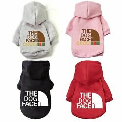 Fashion Dog Clothes Warm The Dog Face Pet Dog Hoodie Coat Jacket For Puppy Small