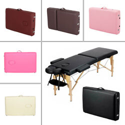 Kyпить Massage Table Portable 2 Folding Facial SPA Bed Tattoo Home W/ Carry Case 84