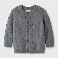 Baby Boys' Button-Up Cardigan Sweater - Cat & Jack Gray 6-9 Months