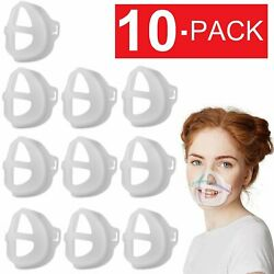 Kyпить 10x Washable 3D Face Mask Bracket Soft Inner Support Frame Silicone Mask Holder на еВаy.соm