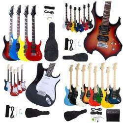 Black White Sunset Electric Guitar Bag And Accessories Pack For Beginner Student