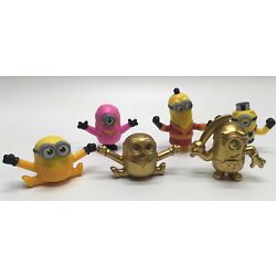 Kyпить Lot of 6 McDonald's 2019 MINIONS - 2 Gold Limited - See Pictures на еВаy.соm