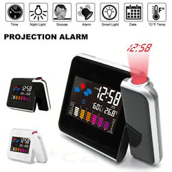 Kyпить Projection Alarm Clock Weather Station Thermometer Temperature Humidity Monitor на еВаy.соm