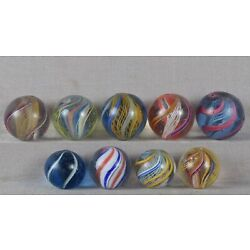 Kyпить Nine antique German SWIRL MARBLES на еВаy.соm