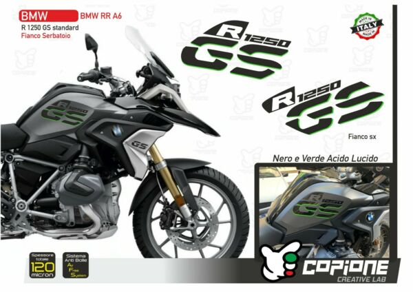 Italien2 Klebstoffe BMW R 1250 GS LC Standard Rallye Exclusive Black & Acid Green RR A6