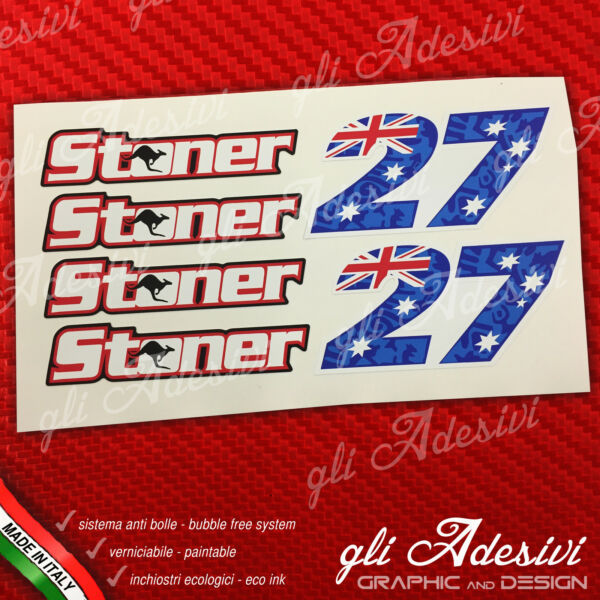 ItalienSet 6  Stoner 27 Replik Name & Logo